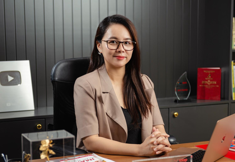 Chị Nguyễn Thị Hoa - chủ tịch Hội đồng quản trị Công ty Cổ phần Giáo dục và Đào tạo IMAP Việt Nam.