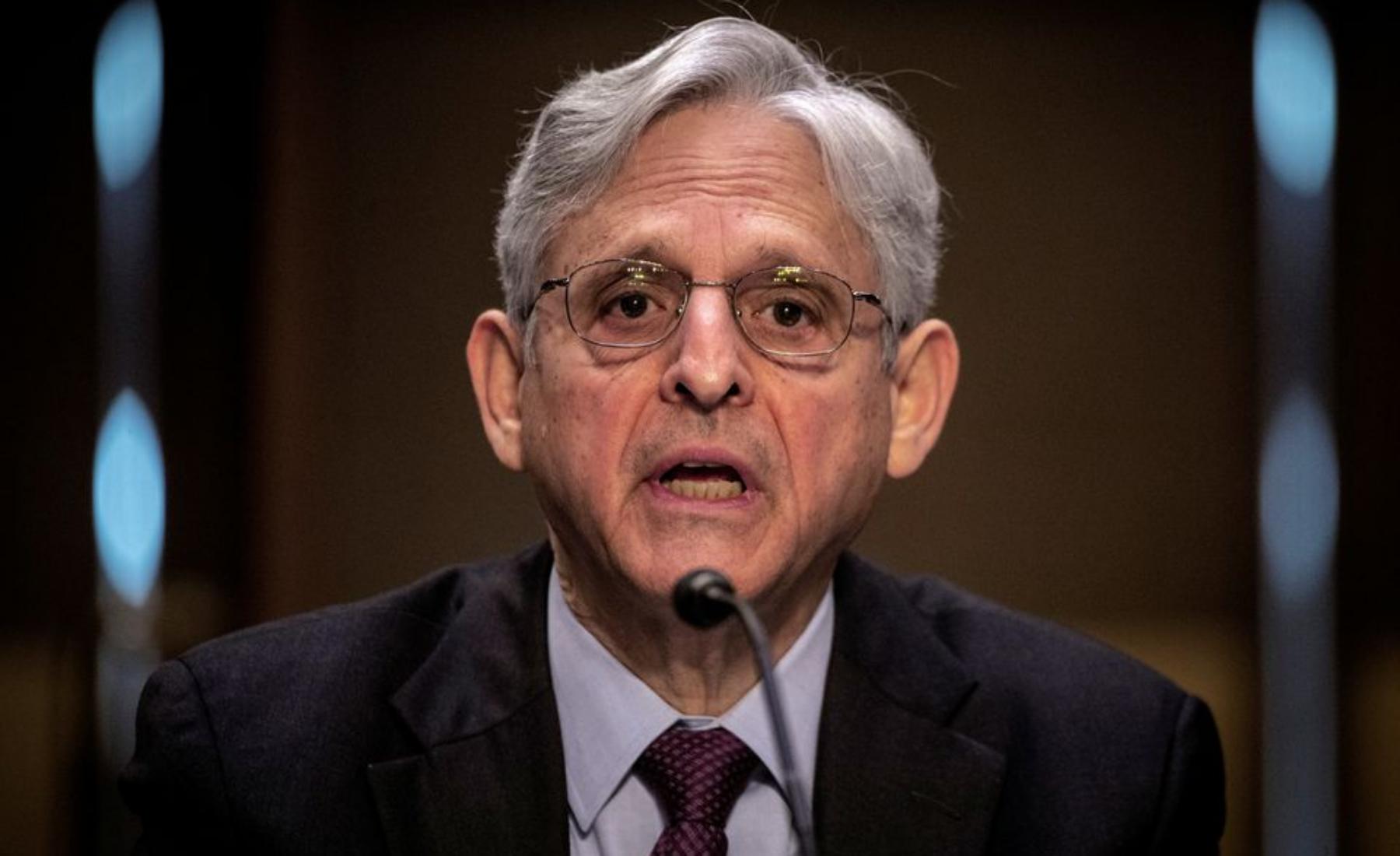 Bộ trưởng Tư pháp Mỹ Merrick Garland trong một phiên họp tại Đồi Capitol hôm 12/5. Ảnh: Reuters.