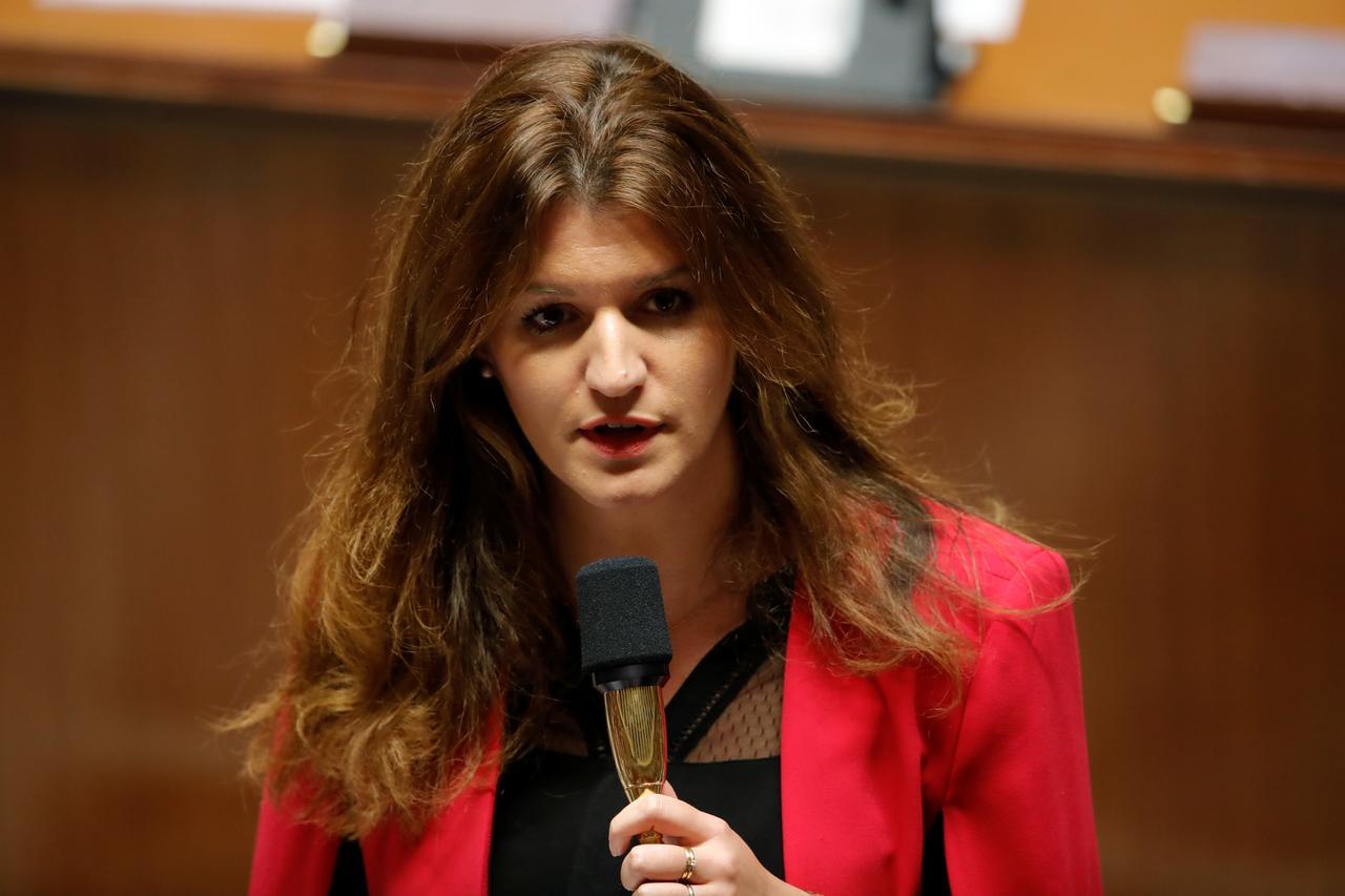 Bà Marlene Schiappa phát biểu trong một cuộc họp ở Paris, Pháp, hồi tháng 11/2018. Ảnh: Reuters.