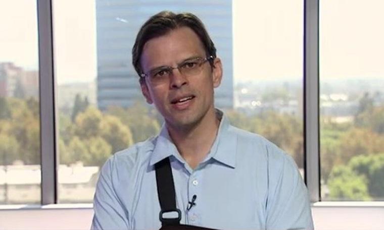Giáo sư Aaron Kheriaty trả lời phỏng vấn trên truyền hình tuần này. Ảnh: American First News.