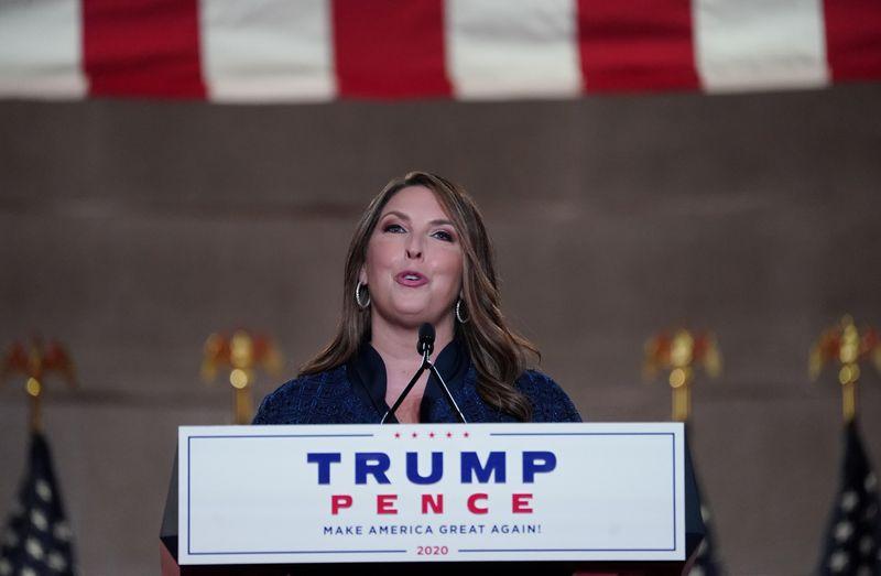 Chủ tịch Ủy ban Quốc gia đảng Cộng hòa Ronna McDaniel tại một sự kiện ở thủ đô Washington hồi tháng 8/2020. Ảnh: Reuters.