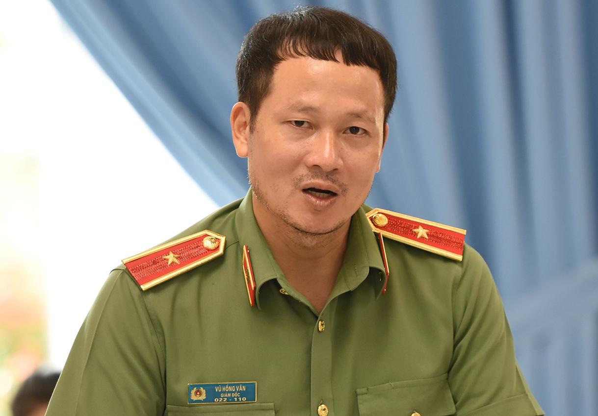 Thiếu tướng Vũ Hồng Văn thông tin việc khởi tố Hải sáng 10/9. Ảnh: Thái Hà
