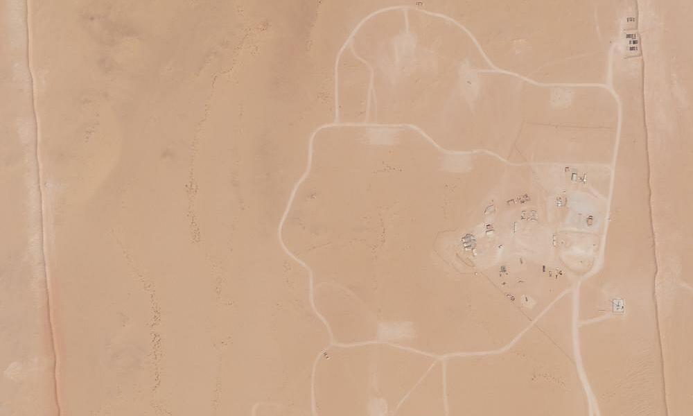 Ảnh chụp vệ tinh ngày 10/9 của Planet Labs cho thấy khu vực dành cho đơn vị tên lửa đánh chặn Mỹ không còn hoạt động. Ảnh: AP.