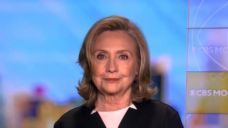 Cựu ngoại trưởng Mỹ Hillary Clinton trả lời phỏng vấn trên CBS hôm 10/9. Ảnh: CBS.