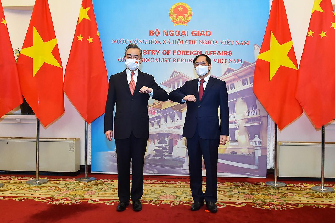 Bộ trưởng Ngoại giao Bùi Thanh Sơn tiếp Bộ trưởng Ngoại giao Trung Quốc Vương Nghị ngày 11/9. Ảnh: Bộ Ngoại giao.