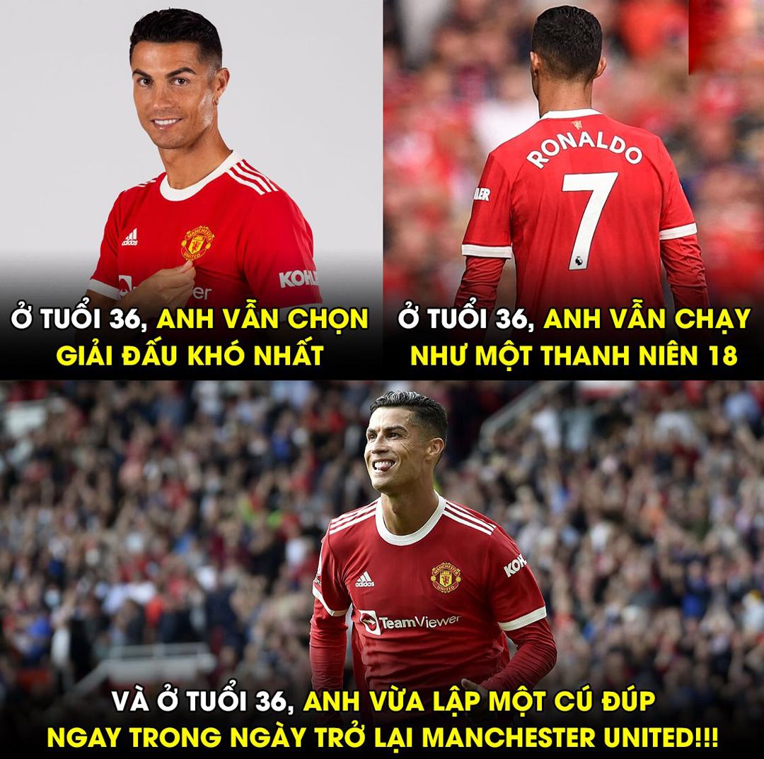 Với Ronaldo dường như 36 tuổi chẳng qua là một con số.
