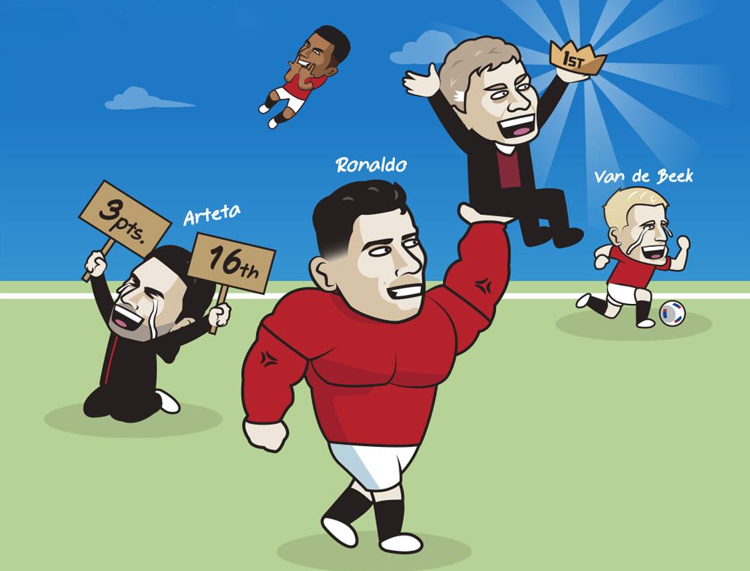 Với chiến thắng trước Newscastle, Man Utd leo lên đỉnh bảng.