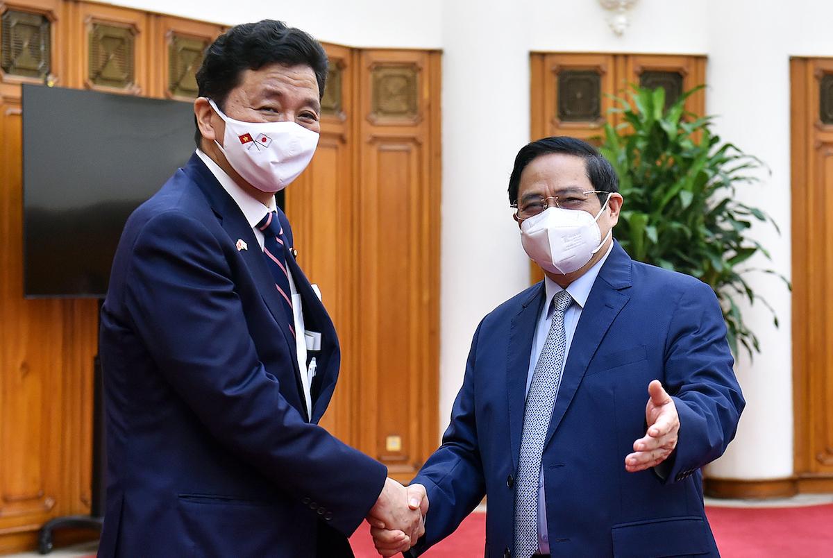 Thủ tướng Phạm Minh Chính tiếp ông Kishi Nobuo đang có chuyến thăm Việt Nam, ngày 12/9. Ảnh VGP
