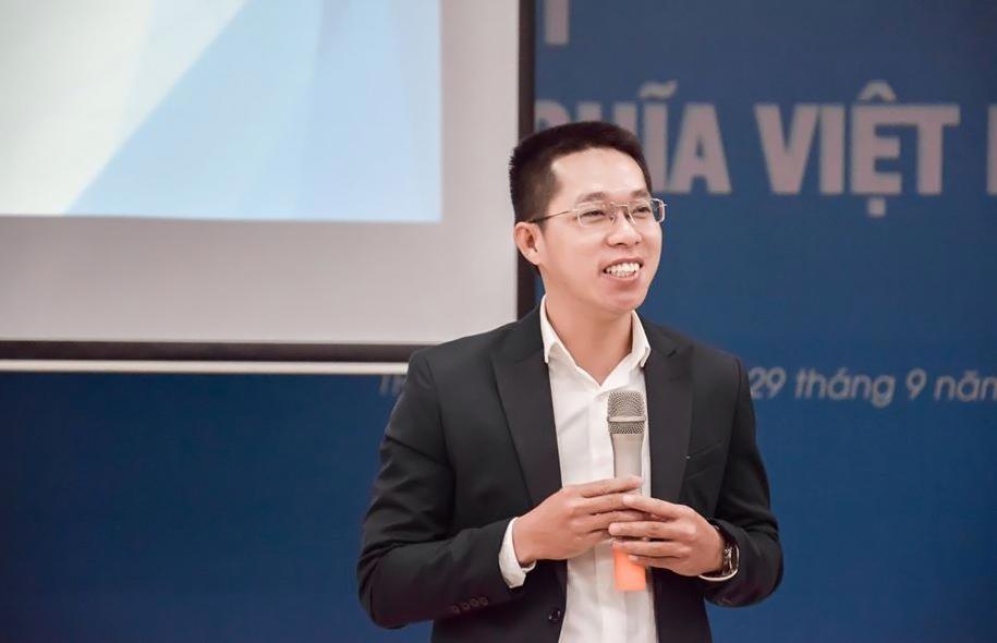 Luật sư Kiều Anh Vũ trong một hội thảo tại TP HCM,  tháng 9/2019. Ảnh: Nhân vật cung cấp