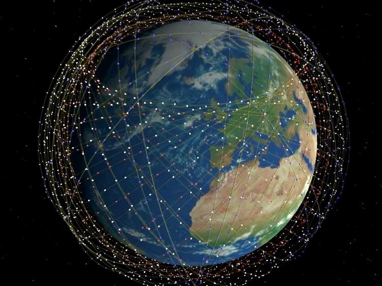 Hình minh họa vệ tinh Starlink của SpaceX bao quanh Trái Đất. Ảnh: Bussiness Insider