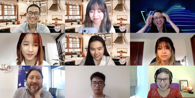 Sinh viên RMIT học online và thuyết trình trực tuyến với đại diện khách hàng doanh nghiệp đến từ Bộ Nông nghiệp Mỹ.