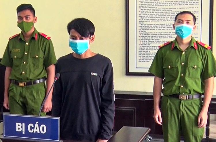 Phạm Minh Nhật Trung tại phiên toà. Ảnh: Công an cung cấp