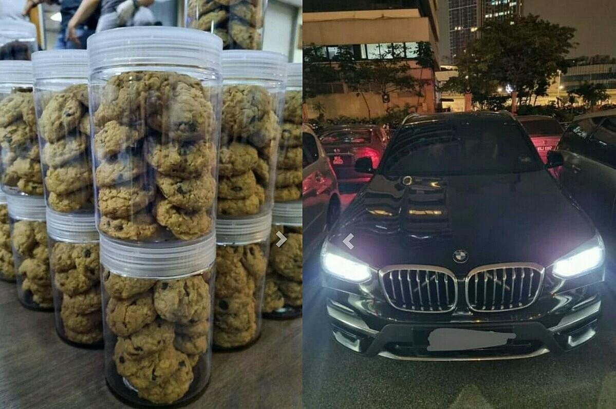 Những hộp bánh chứa ma tuý được cảnh sát tìm thấy trong xe khi vợ chồng trẻ đi giao hàng. Ảnh: Straits Times