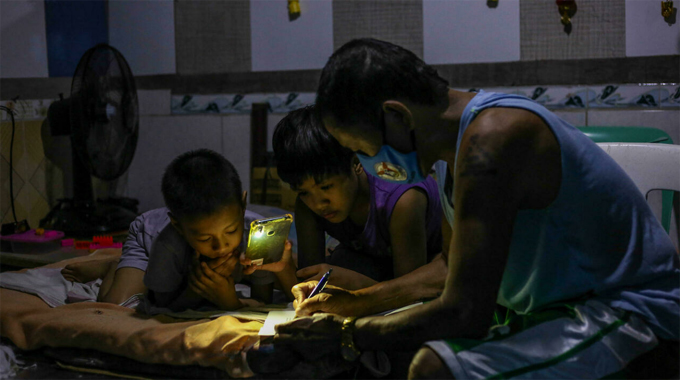 While nearly every country in the world has partially or fully reopened schools to in-person classes, the Philippines has kept them closed since the start of the coronavirus pandemic, the UN says Jam STA ROSA AFP