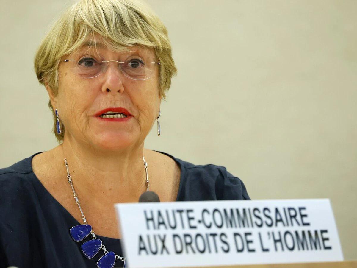 Cao ủy Nhân quyền Liên Hợp Quốc Michelle Bachelet trong cuộc họp tại Geneva, Thụy Sĩ, hôm 13/9. Ảnh: Reuters.