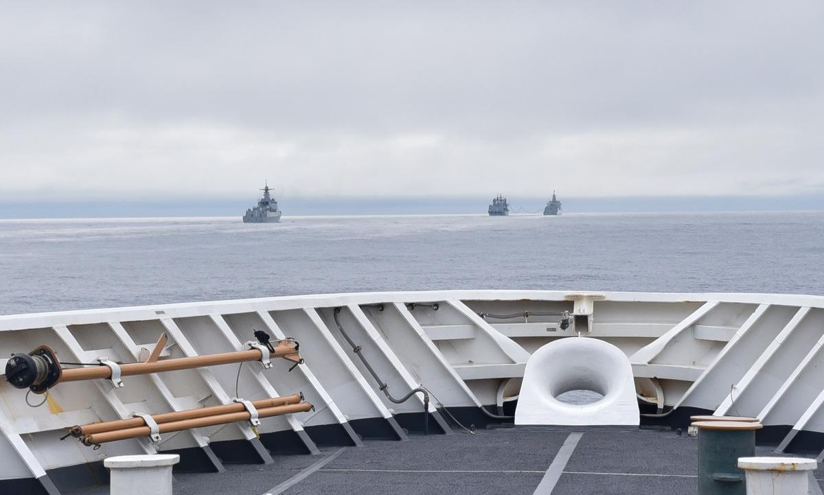 Tàu Bertholf bám theo nhóm chiến hạm Trung Quốc hôm 30/8. Ảnh: USCG.