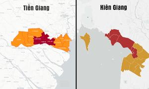 Diễn biến dịch tại Kiên Giang và Tiền Giang