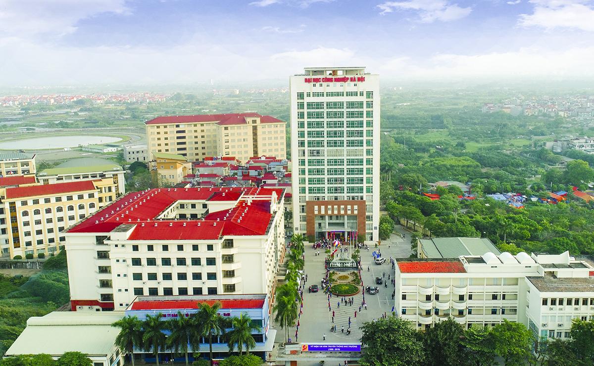 Đại học Công nghiệp Hà Nội có trụ sở chính ở đường Cầu Diễn, quận Bắc Từ Liêm, Hà Nội. Ảnh: HaUI
