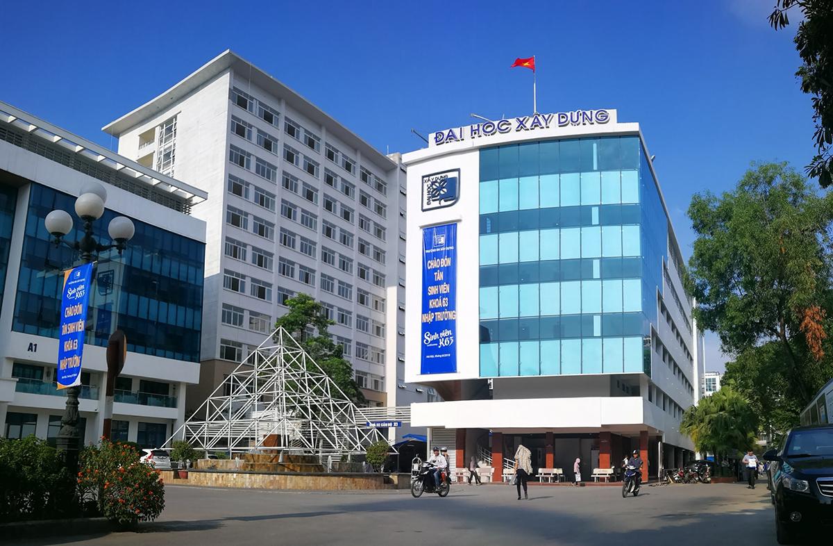 Khuôn viên Đại học Xây dựng Hà Nội. Ảnh: Fanpage Trường Đại học Xây dựng Hà Nội - HUCE