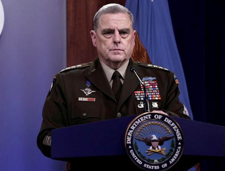 Chủ tịch Hội đồng Tham mưu trưởng Liên quân Mỹ Mark Milley tại Lầu Năm Góc hôm 18/8. Ảnh: Reuters.
