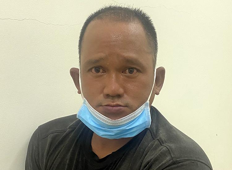 Trương Ngọc Long tại cơ quan công an. Ảnh: Công an cung cấp