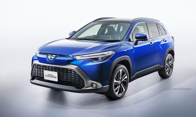 Corolla Cross 2022 ở Nhật Bản có đèn pha và lưới tản nhiệt khác kiểu so với các phiên bản ở những thị trường khác. Ảnh: Toyota