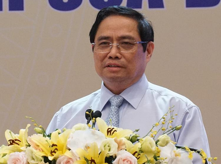 Thủ tướng Phạm Minh Chính phát biểu tại hội nghị. Ảnh: Trần Hải
