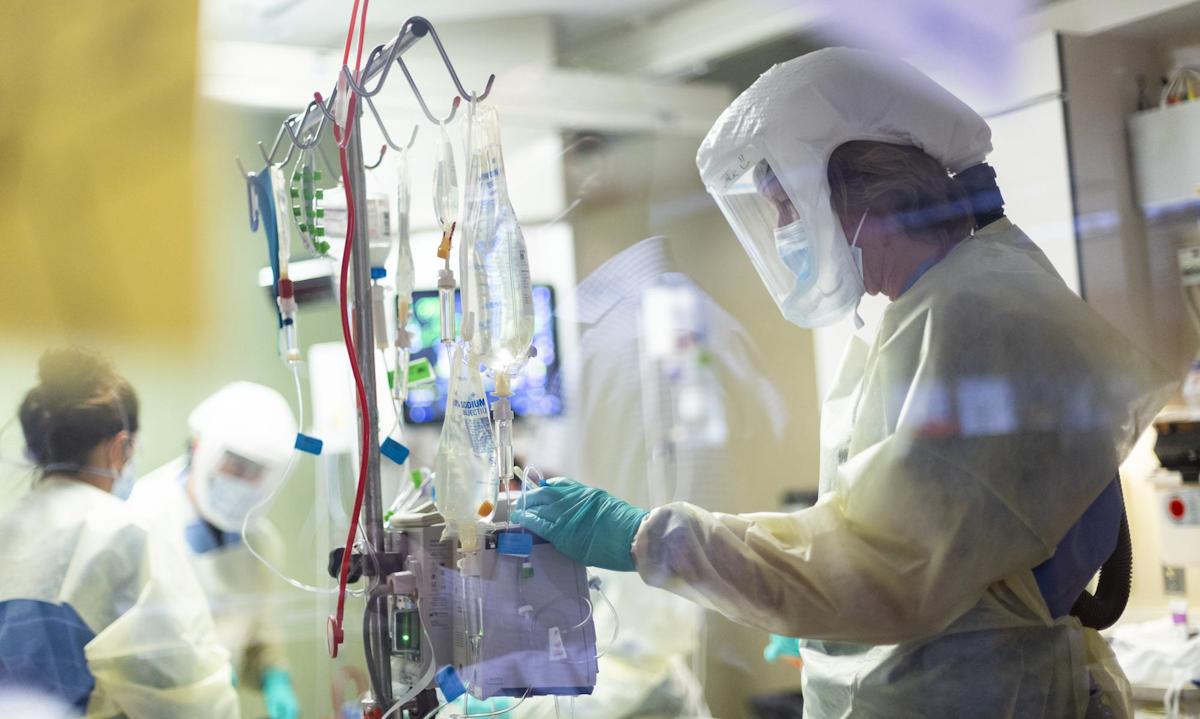 Khoa chăm sóc đặc biệt tại Trung tâm Y tế St. Lukes Boise ở Boise, bang Idaho hôm 31/8. Ảnh: AP.