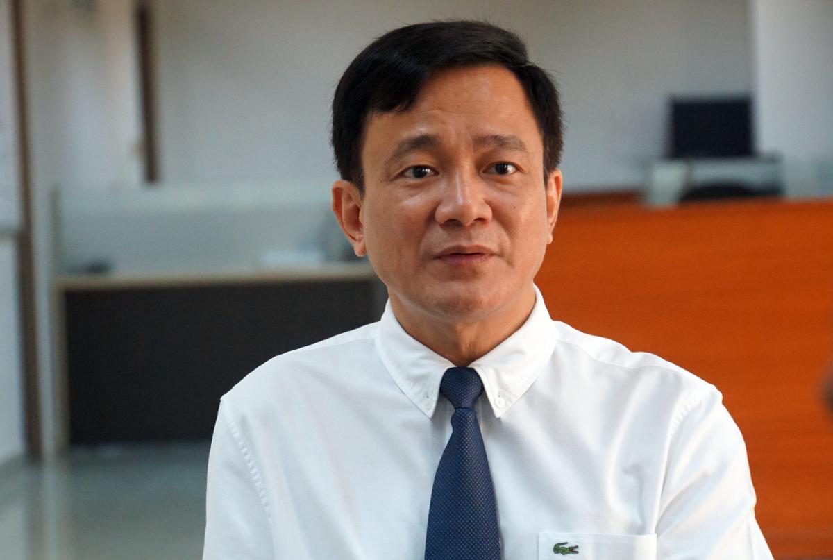 Ông Lê Vinh Danh tại Đại học Tôn Đức Thắng, tháng 10/2020. Ảnh: Mạnh Tùng