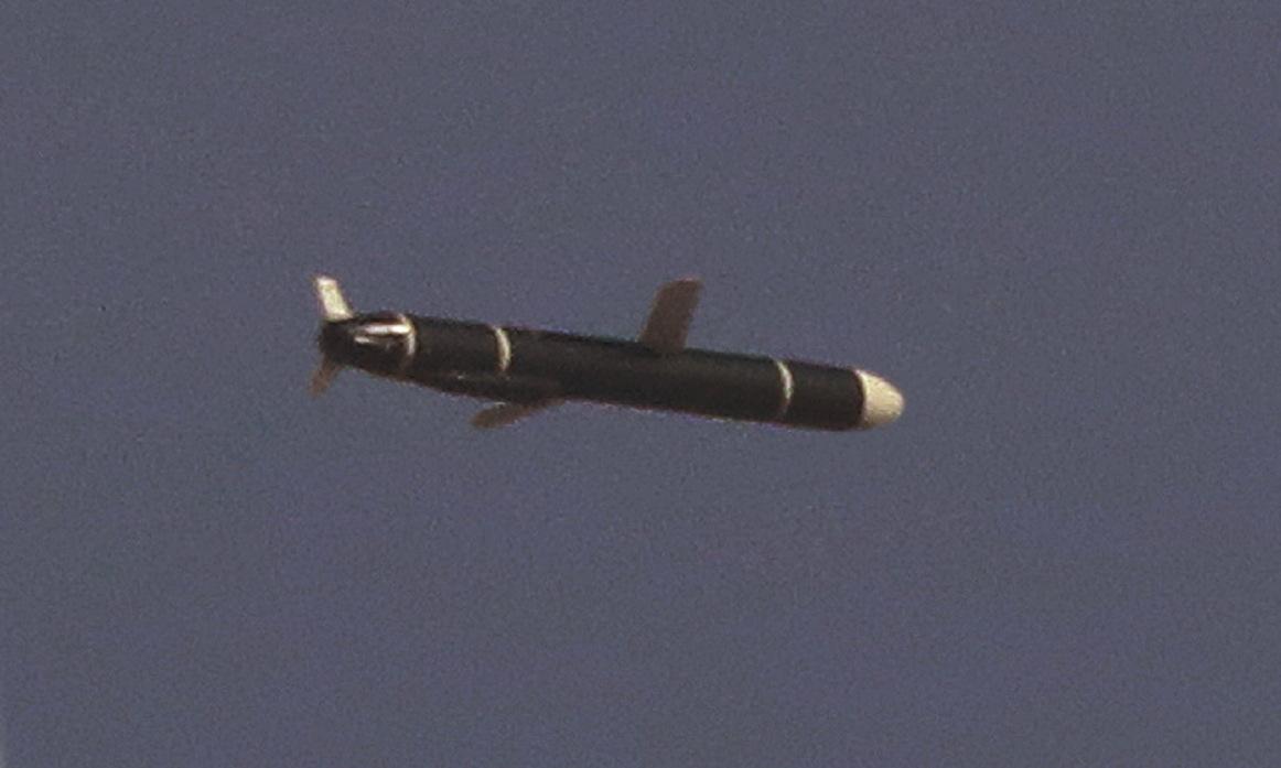 Tên lửa hành trình Triều Tiên trên đường bay trong ảnh được công bố hôm 13/9. Ảnh: KCNA.
