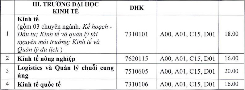 13 khoa, trường của Đại học Huế công bố điểm chuẩn - 1