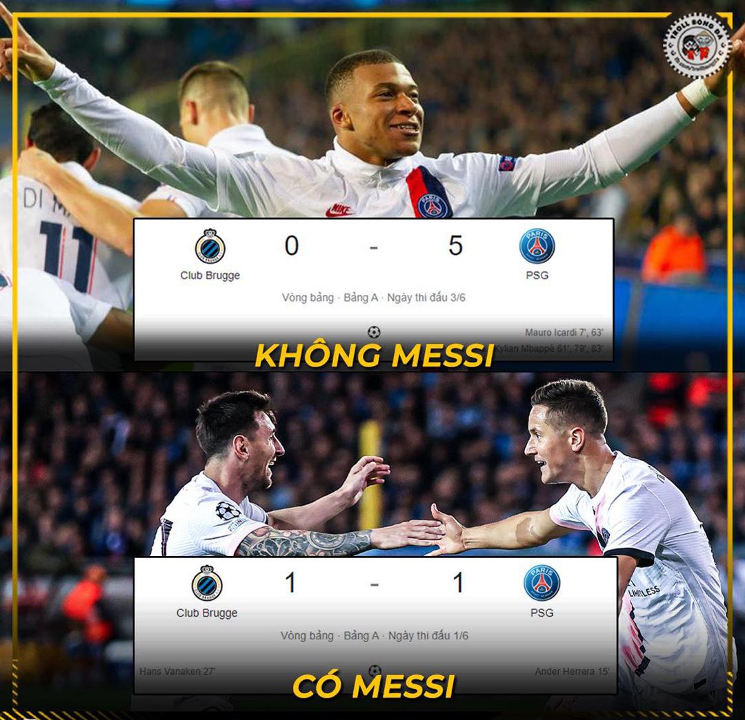 Messi đã làm cho PSG yếu đi.
