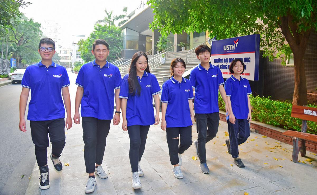 Sinh viên Đại học Khoa học và Công nghệ Hà Nội. Ảnh: USTH