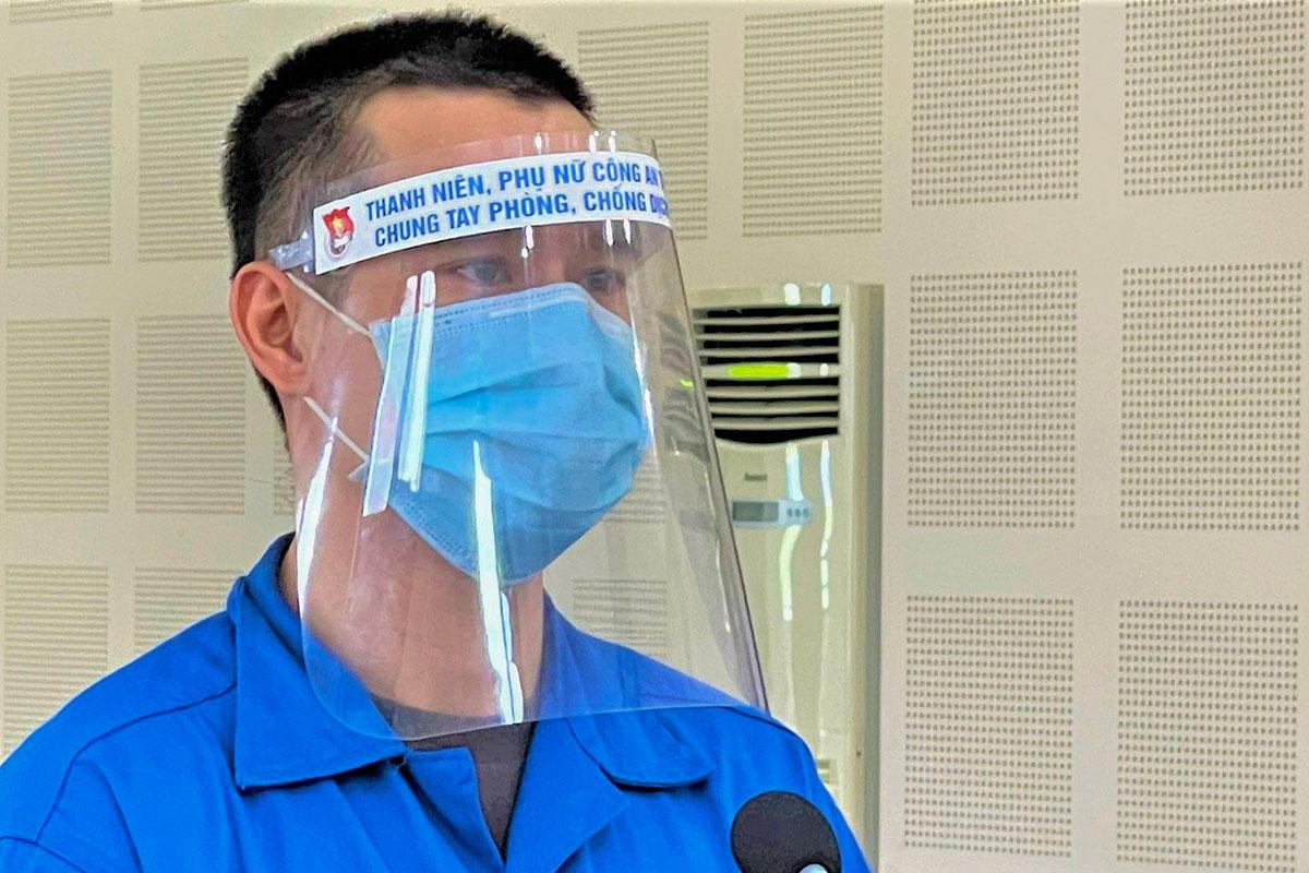 Bị cáo Linh tại phiên xét xử ngày 15/9. Ảnh: Tú Anh.