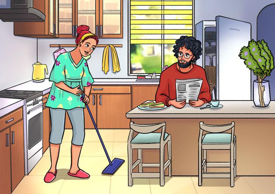Tranh vợ chồng dưới bếp có gì sai?
