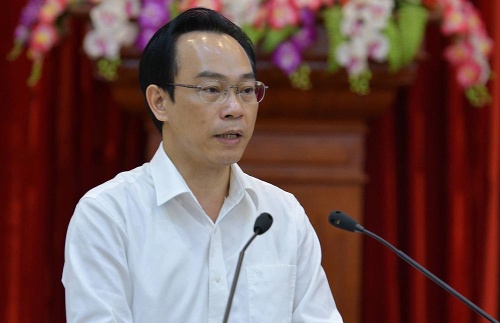 Thứ trưởng Giáo dục và Đào tạo Hoàng Minh Sơn. Ảnh:MOET.