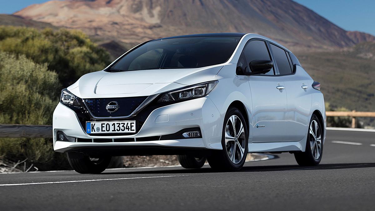 Mẫu xe điện của Nissan lăn bánh tại Mỹ. Ảnh: Topgear