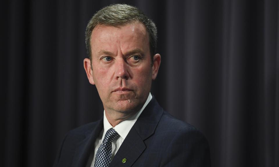 Bộ trưởng Thương mại Australia Dan Tehan trong cuộc họp báo tại thủ đô Canberra hồi tháng 12/2020. Ảnh: AAP.