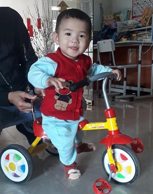 Con trai Luân, bé Nguyễn Tùng Dương, hiện hơn 1 tuổi và ở Hà Nội cùng mẹ. Ảnh: Nhân vật cung cấp