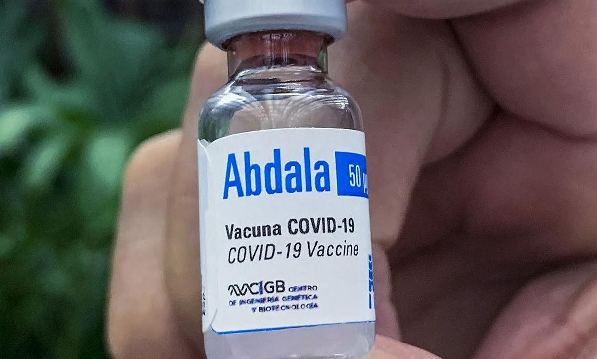 Một lọ vaccine Covid-19 Abdala của Cuba. Ảnh: artemisadiario.cu.