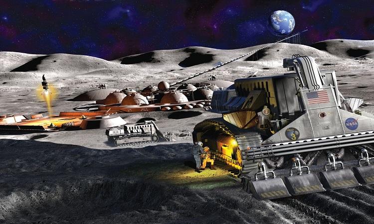 Mô phỏng khu định cư của con người trên Mặt Trăng. Ảnh: Paul Dimare