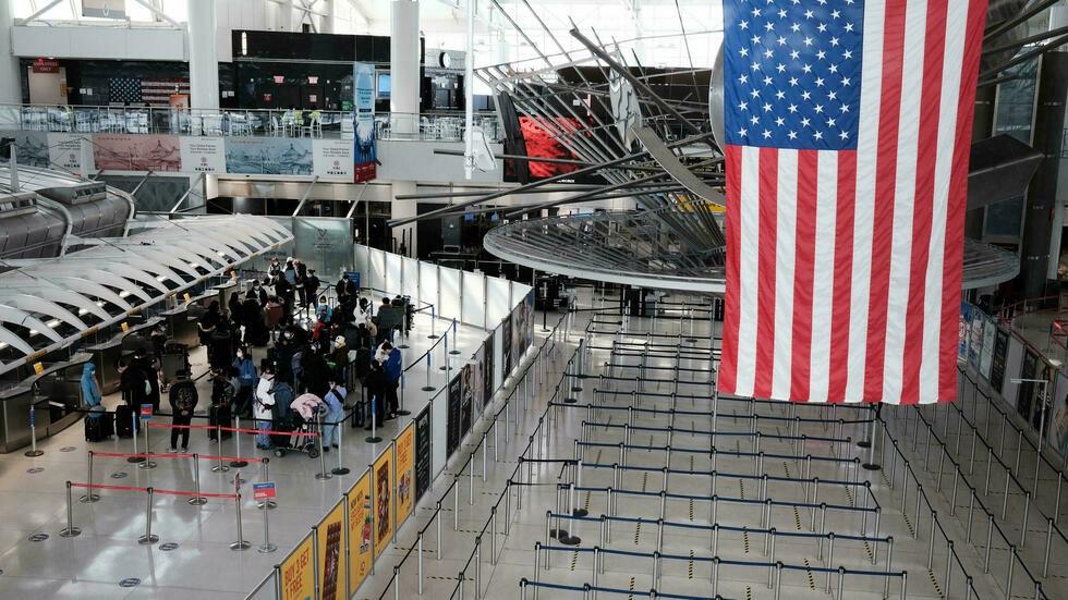 Nhà ga sân bay quốc tế John F. Kennedy ở thành phố New York, Mỹ, hồi tháng 1. Ảnh: AFP