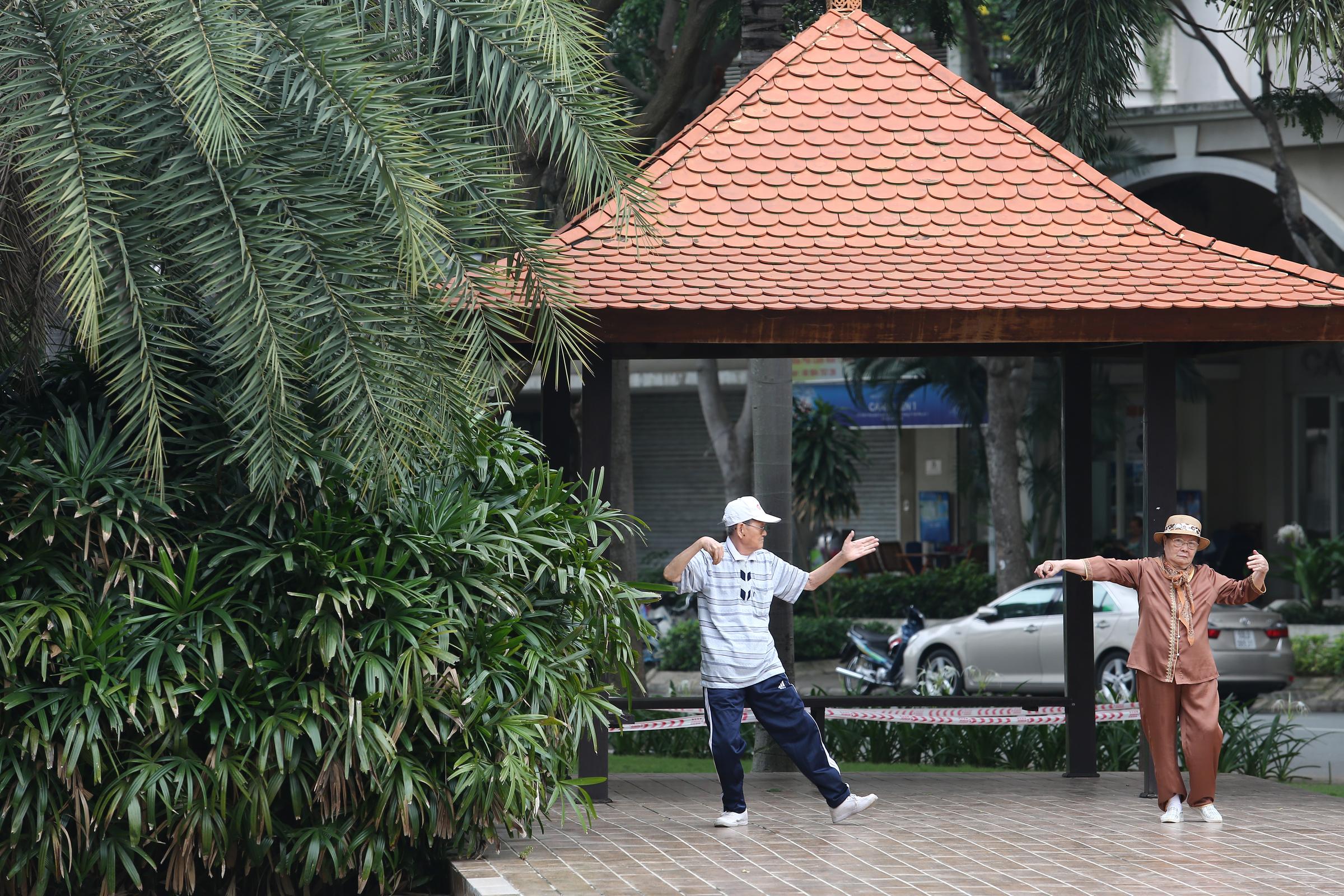 Một góc công viên Nam Viên khu S, phường Tân Phú, quận 7, năm 2018. Ảnh: Thành Nguyễn