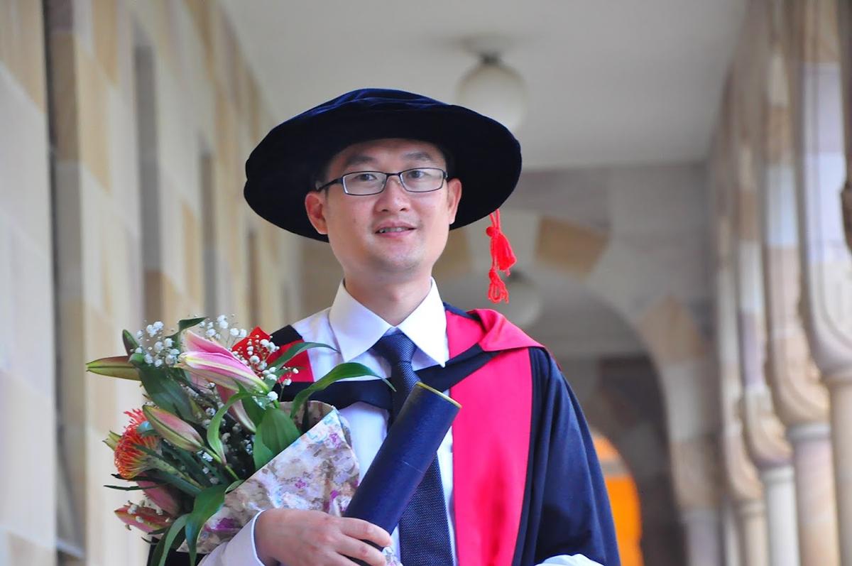 TS Nguyễn Thế Dương, người đồng sáng lập và điều hành Yêu Tiếng Việt, trường dạy tiếng Việt trực tuyến đầu tiên tại Australia, hiện được nhiều trẻ em, người lớn khắp thế giới theo học. Ảnh: Nhân vật cung cấp