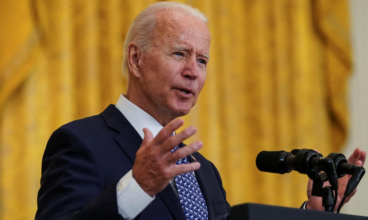 Tổng thống Joe Biden phát biểu tại Nhà Trắng hôm 8/9. Ảnh: Reuters.
