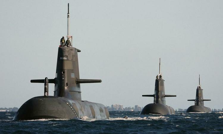 Các tàu ngầm lớp Collins của Hải quân Hoàng gia Australia. Ảnh: AP.