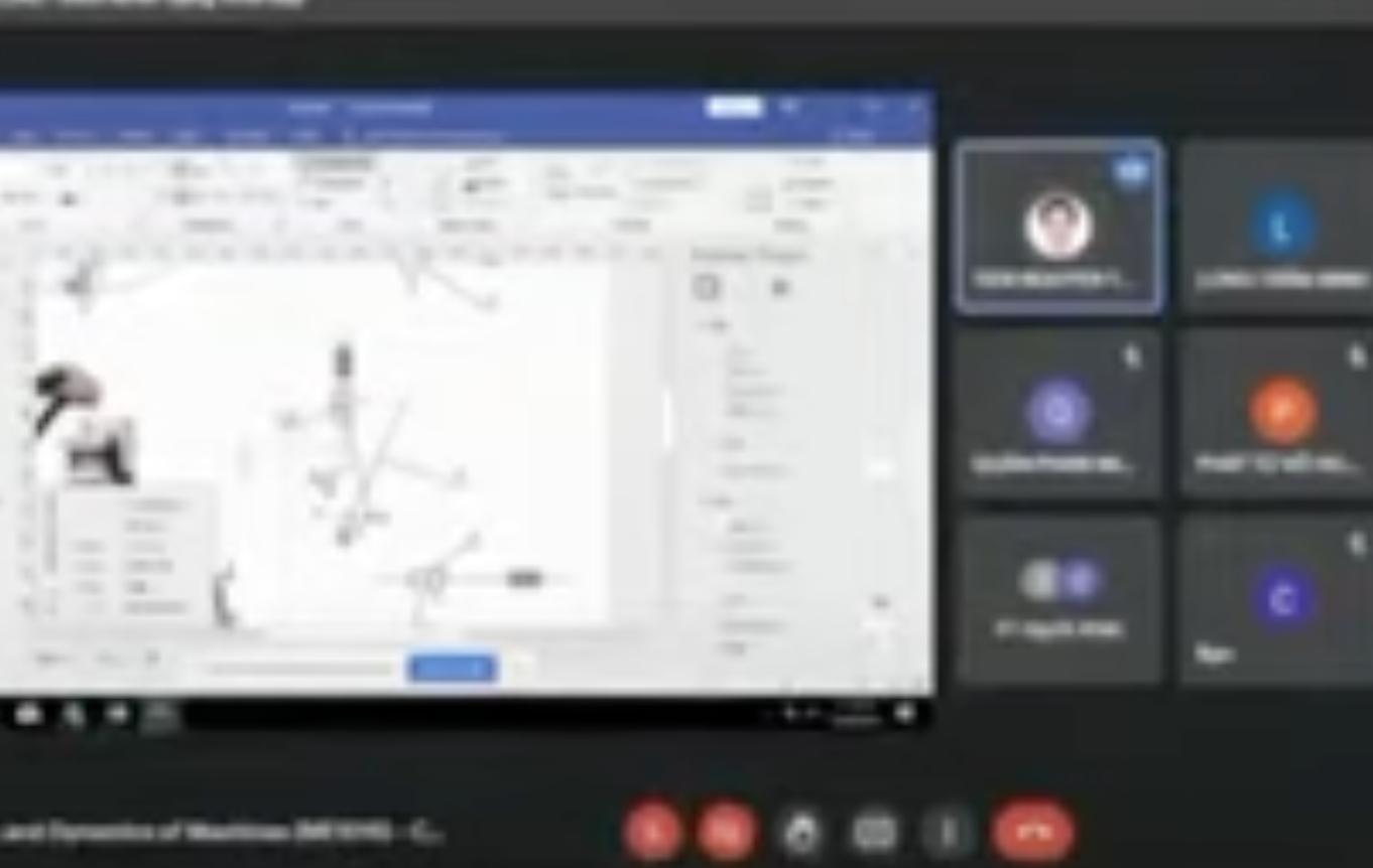 Tiết học online của khoa Cơ khí, trường Đại học Bách khoa khi giảng viên nổi nóng mắng sinh viên. Ảnh: Cắt từ video