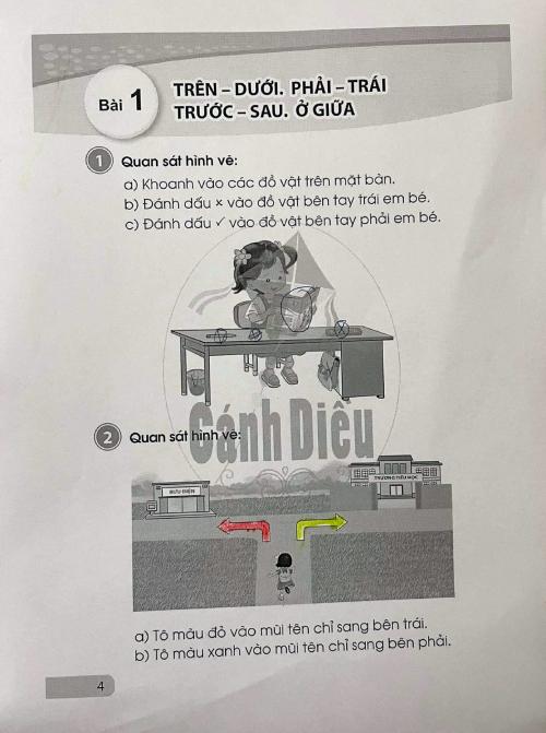 Bài tập Toán đầu tiên của con chị Lê Thị Huyền, TP Thủ Đức, ngày 20/9. Ảnh: Phụ huynh cung cấp