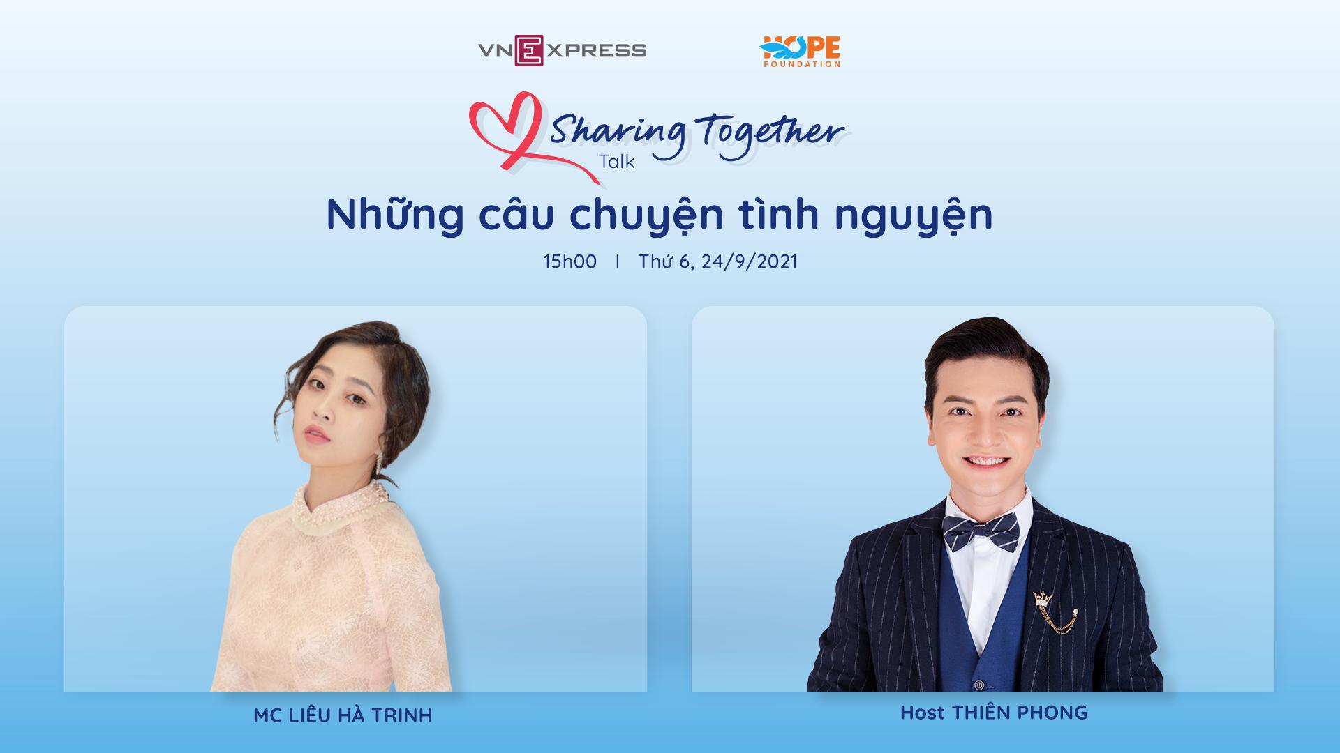MC Liêu Hà Trinh làm khách mời Sharing togather - 1