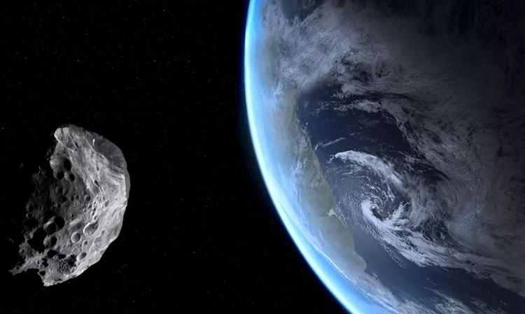 Mô phỏng một tiểu hành tinh bay gần Trái Đất. Ảnh: Pixabay